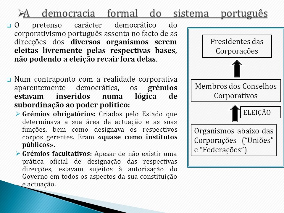 A democracia formal do sistema português