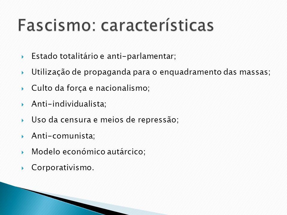 Fascismo: características