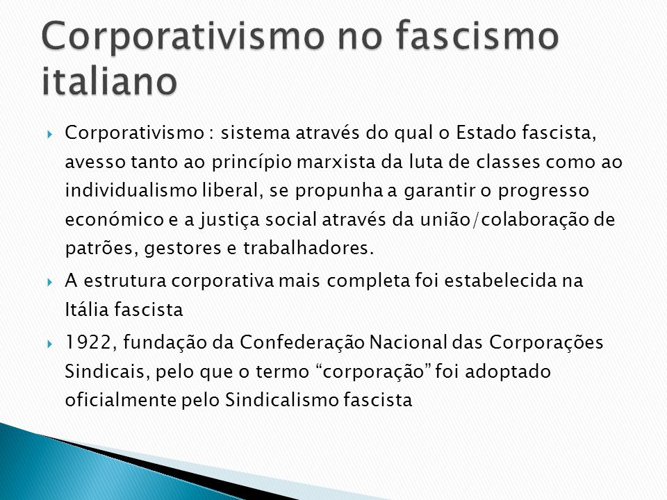 Corporativismo no fascismo italiano
