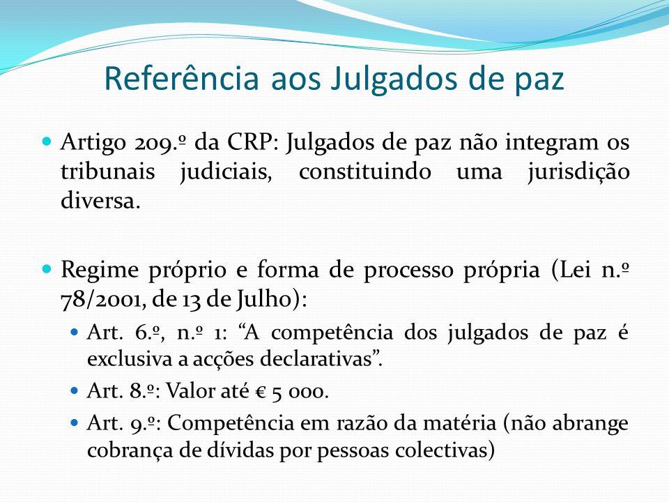 Referência aos Julgados de paz