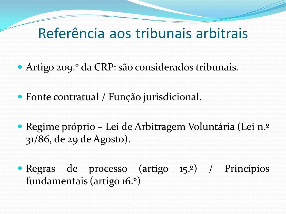 Referência aos tribunais arbitrais