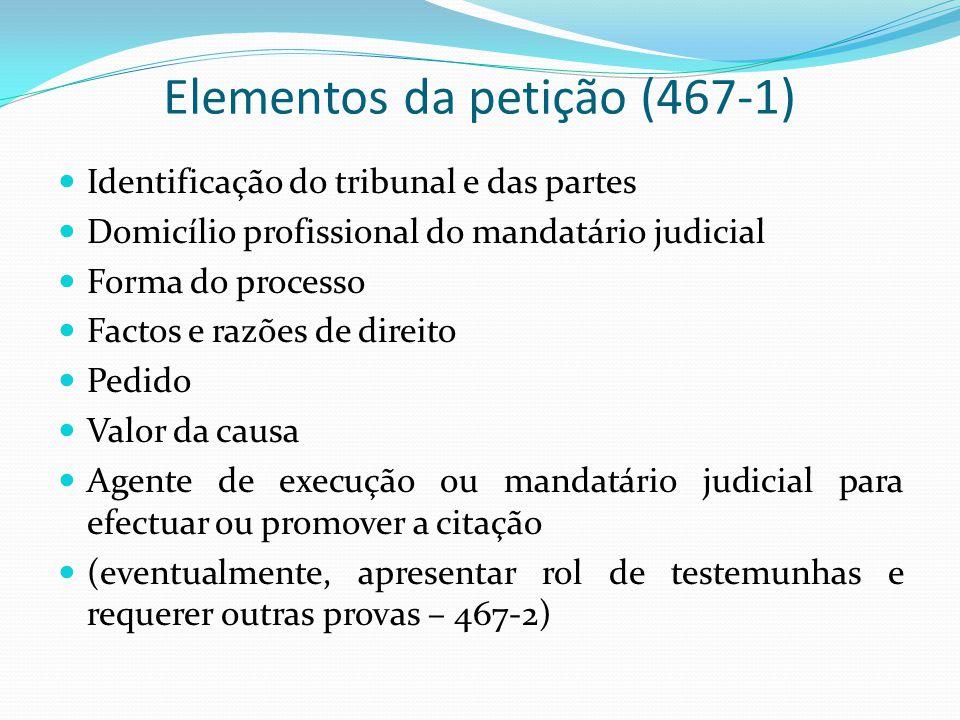 Elementos da petição (467-1)
