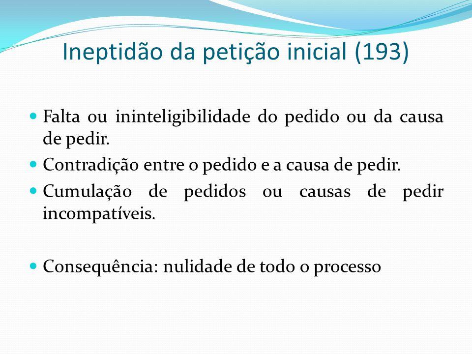 Ineptidão da petição inicial (193)