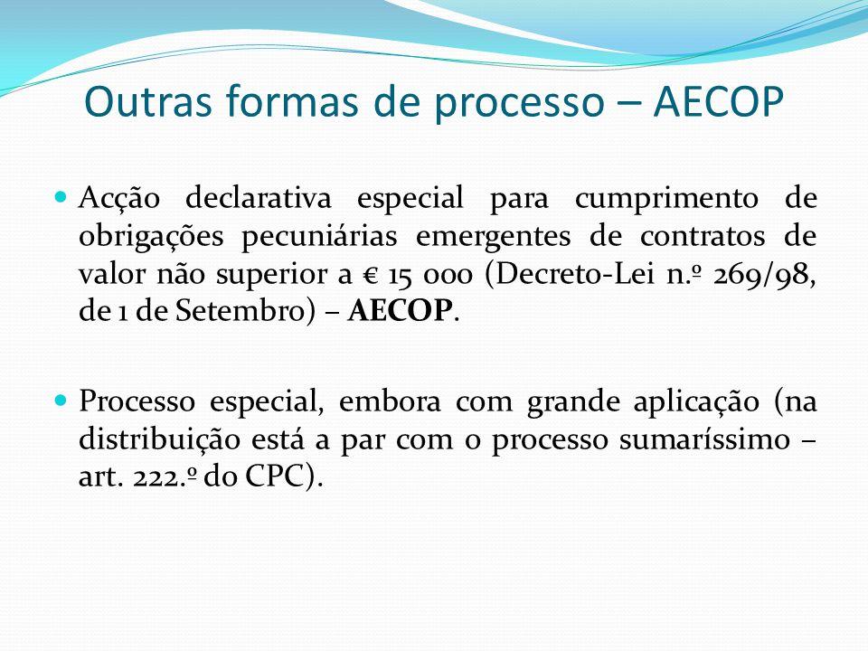 Outras formas de processo – AECOP