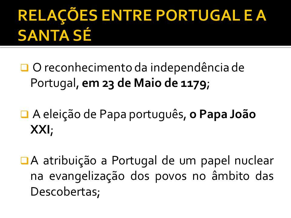 RELAÇÕES ENTRE PORTUGAL E A SANTA SÉ
