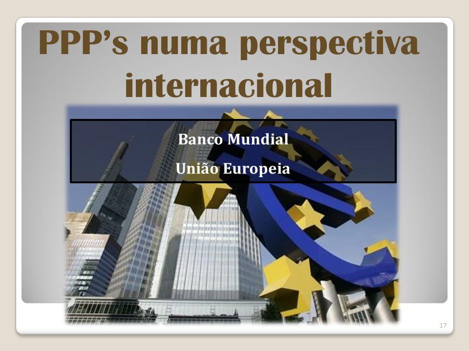 PPP's numa perspectiva internacional