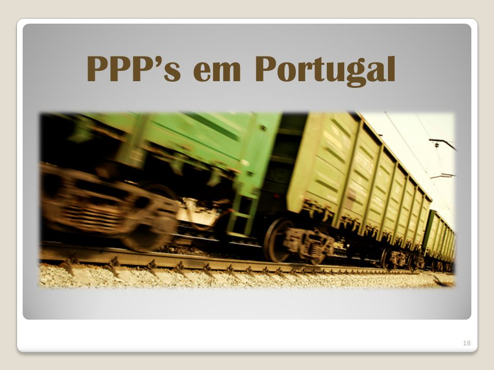 PPP's em Portugal