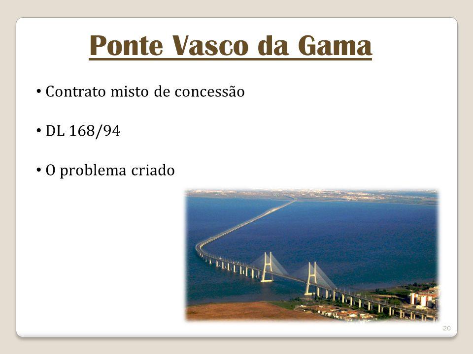 Ponte Vasco da Gama Contrato misto de concessão DL 168/94
