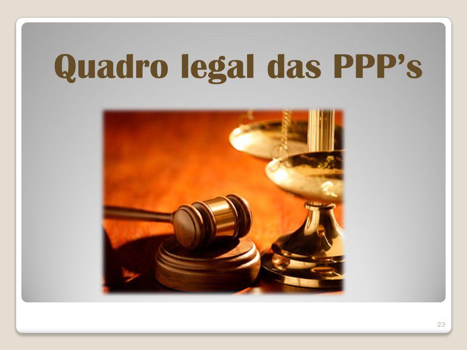 Quadro legal das PPP's