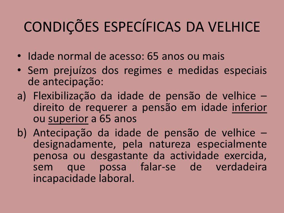 CONDIÇÕES ESPECÍFICAS DA VELHICE