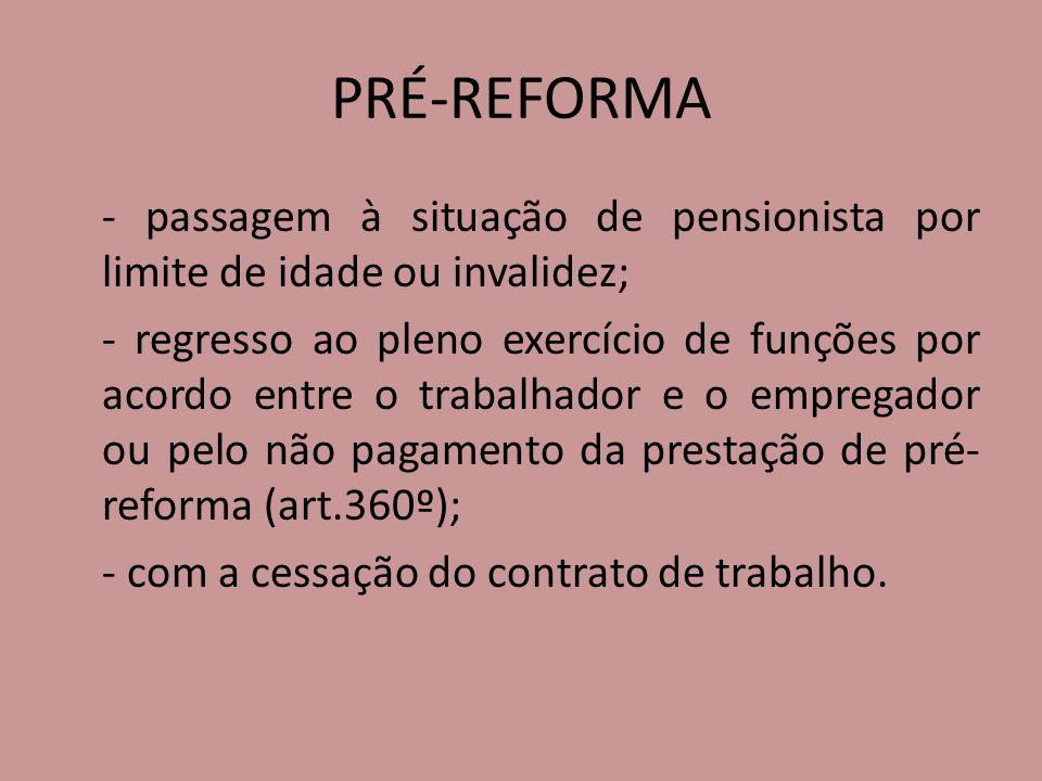 PRÉ-REFORMA
