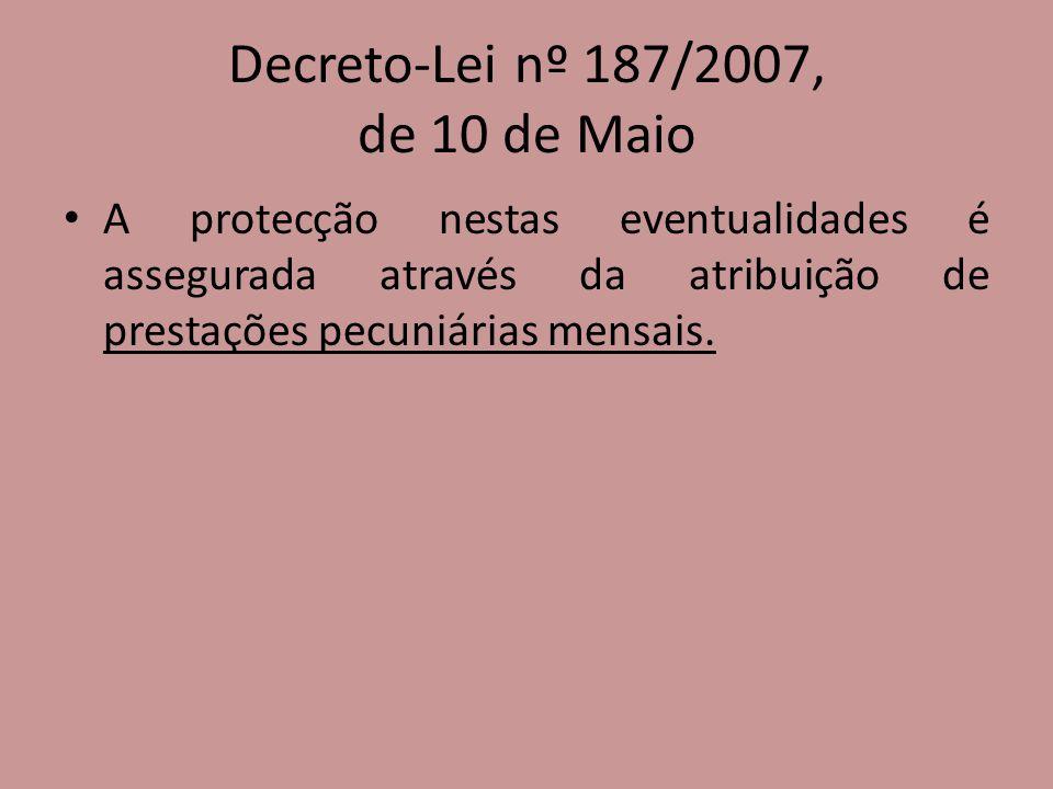 Decreto-Lei nº 187/2007, de 10 de Maio