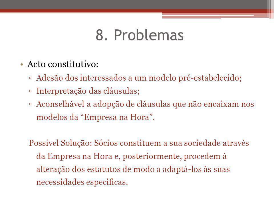 8. Problemas Acto constitutivo: