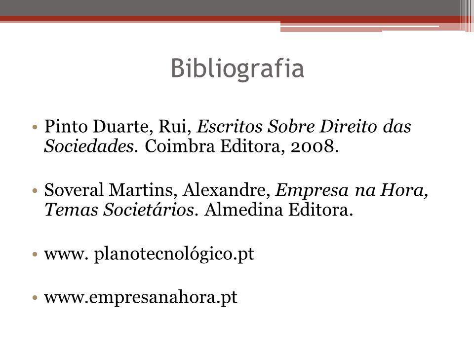 Bibliografia Pinto Duarte, Rui, Escritos Sobre Direito das Sociedades. Coimbra Editora, 2008.