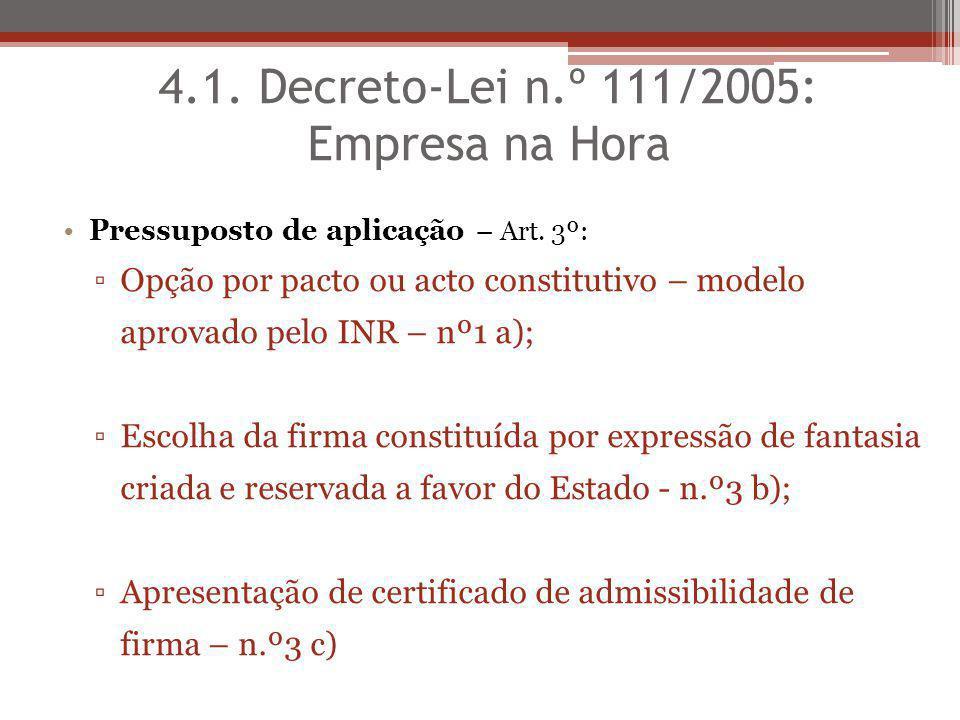 4.1. Decreto-Lei n.º 111/2005: Empresa na Hora