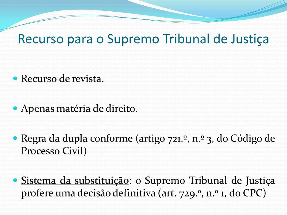 Recurso para o Supremo Tribunal de Justiça