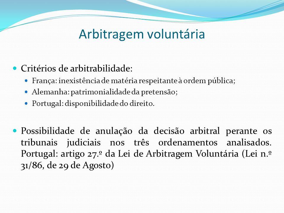 Arbitragem voluntária