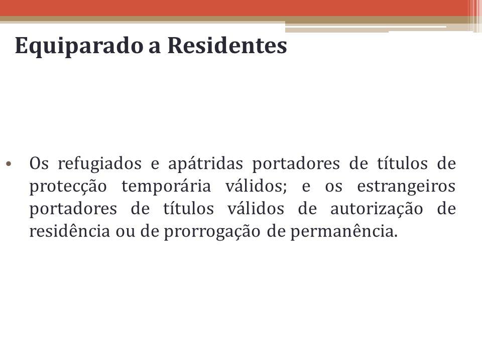 Equiparado a Residentes