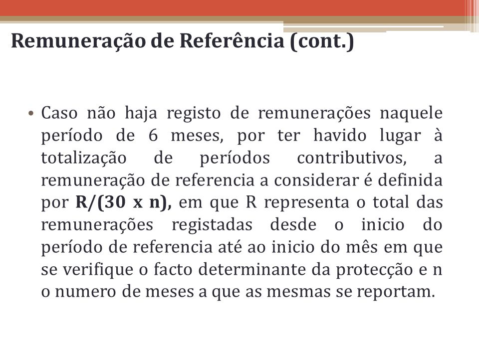 Remuneração de Referência (cont.)