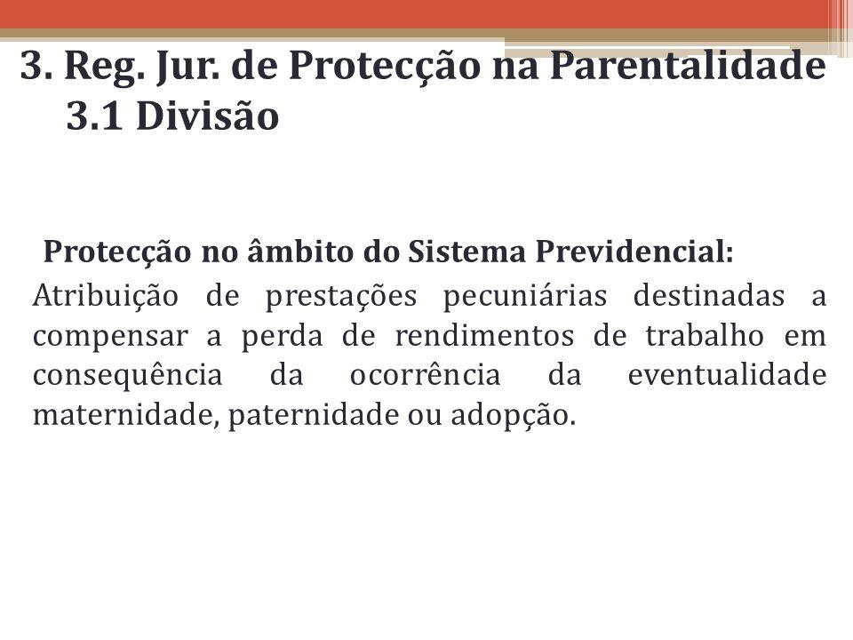 3. Reg. Jur. de Protecção na Parentalidade 3.1 Divisão