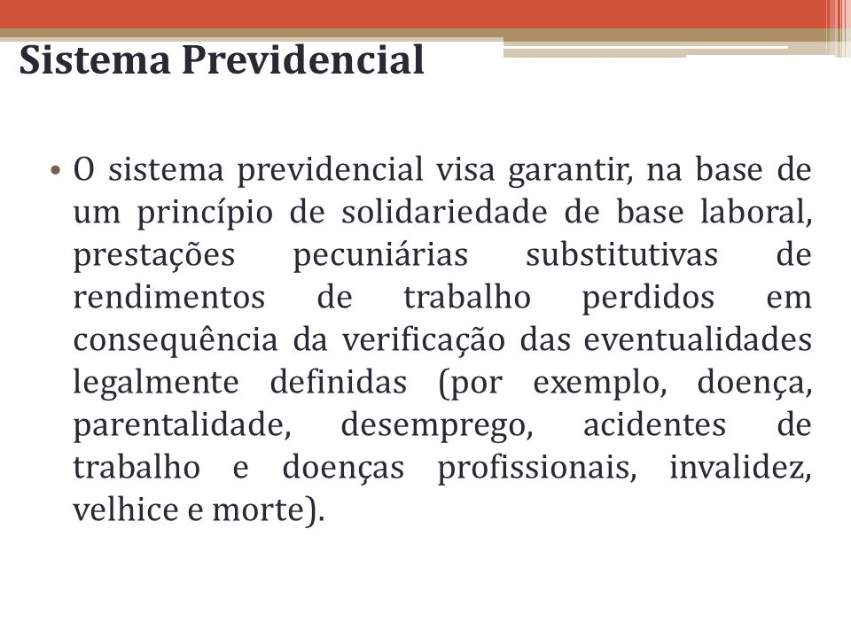 Sistema Previdencial
