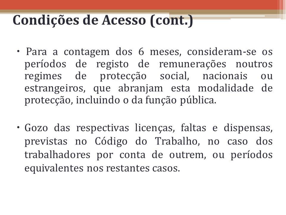 Condições de Acesso (cont.)
