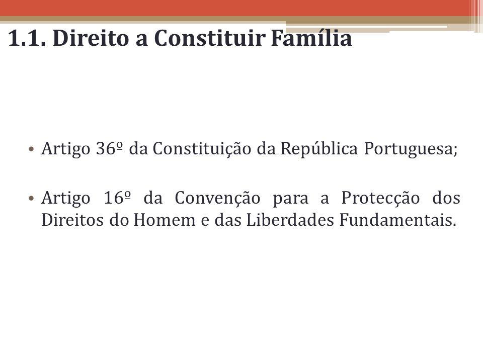 1.1. Direito a Constituir Família