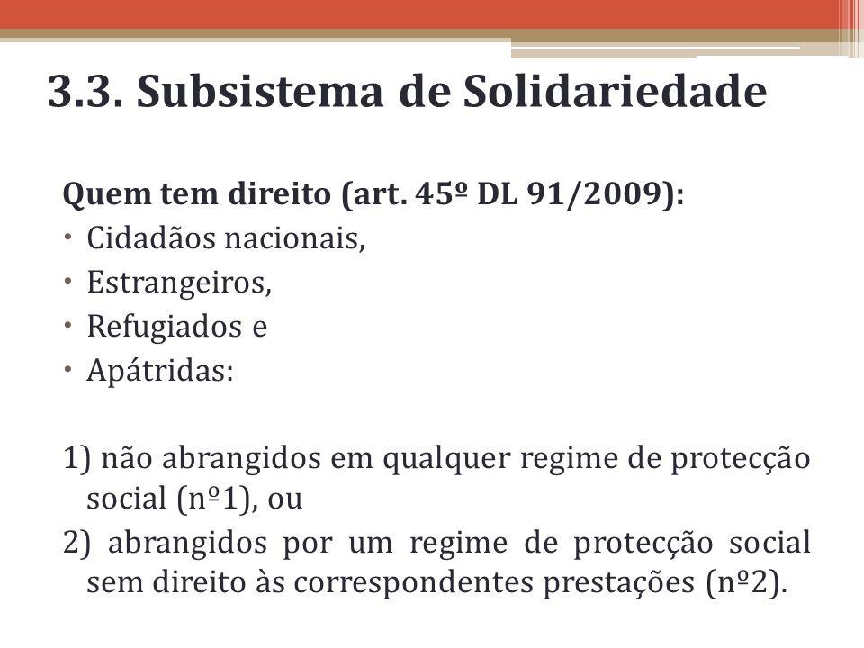 3.3. Subsistema de Solidariedade