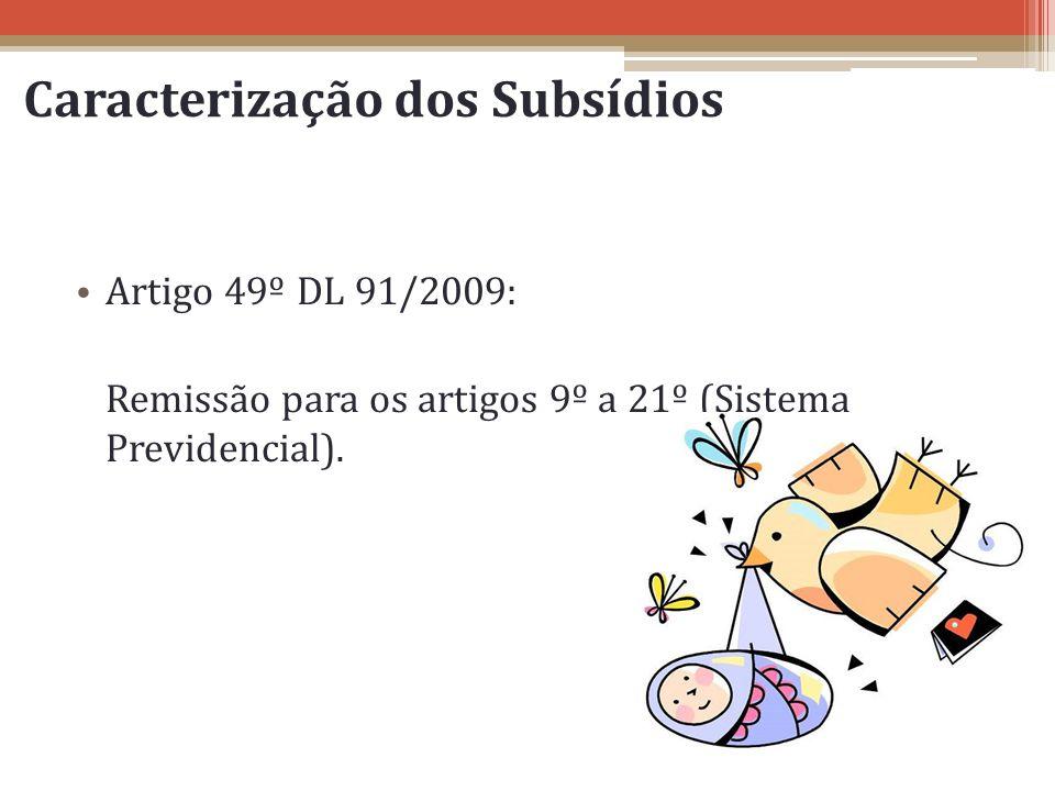 Caracterização dos Subsídios