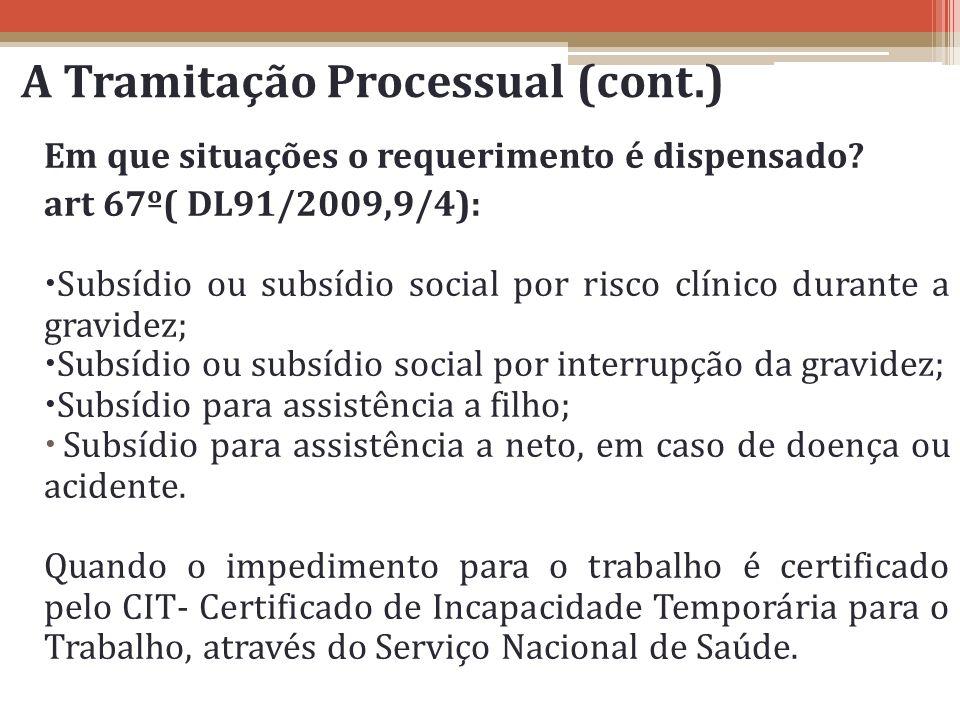 A Tramitação Processual (cont.)