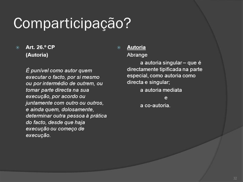 Comparticipação Art. 26.º CP (Autoria)
