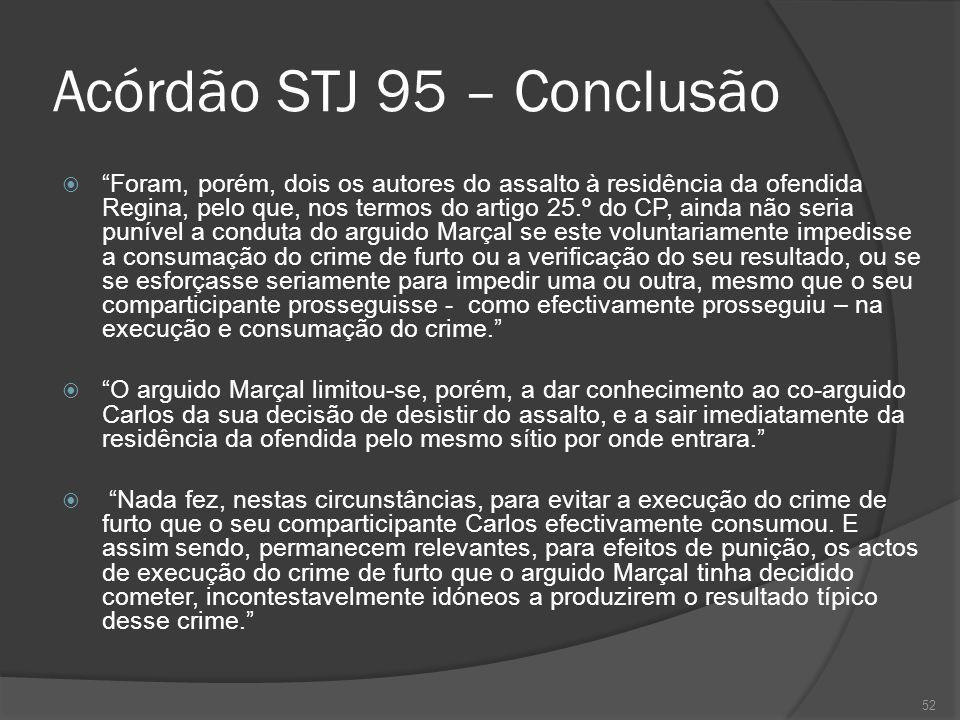 Acórdão STJ 95 – Conclusão