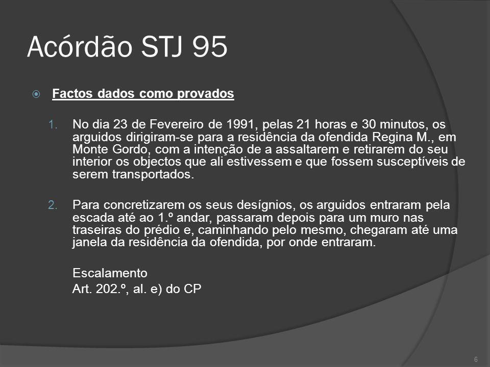 Acórdão STJ 95 Factos dados como provados