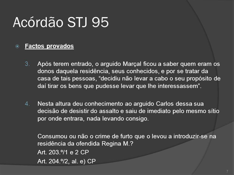 Acórdão STJ 95 Factos provados