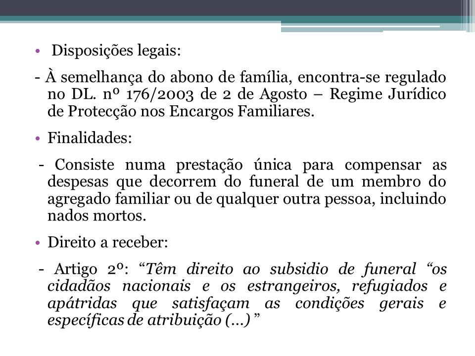 Disposições legais: