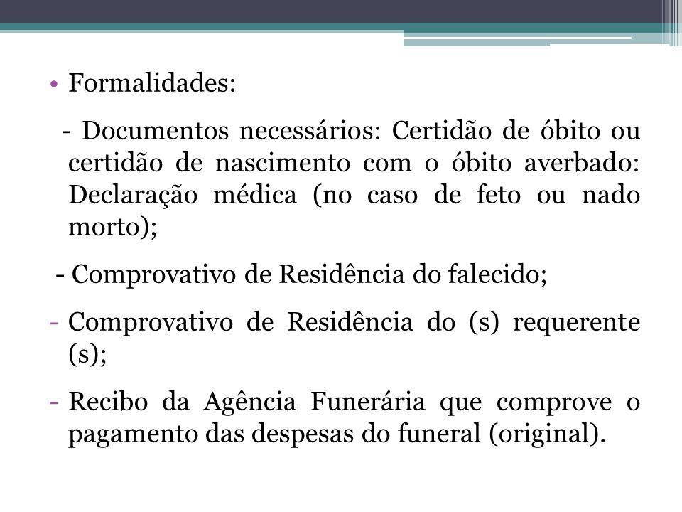 Formalidades: