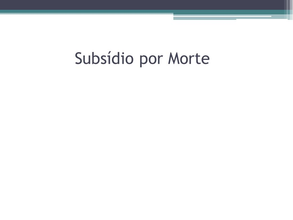 Subsídio por Morte