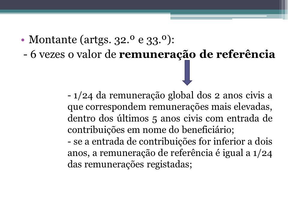 - 6 vezes o valor de remuneração de referência
