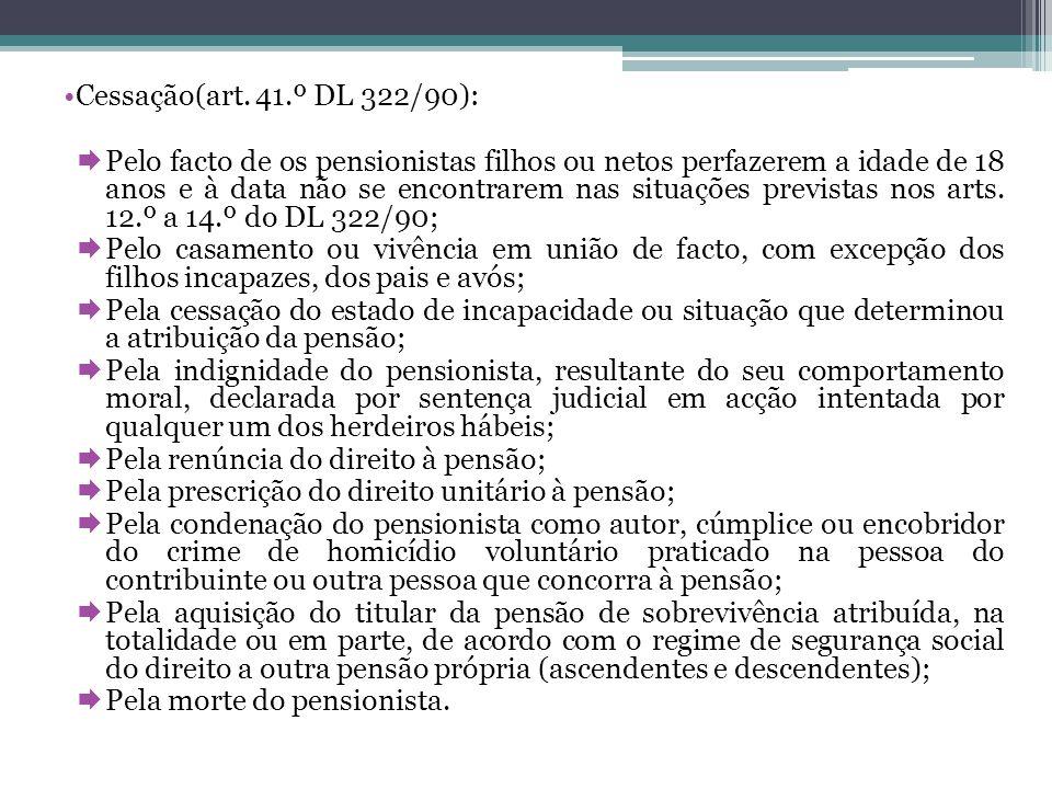 Cessação(art. 41.º DL 322/90):