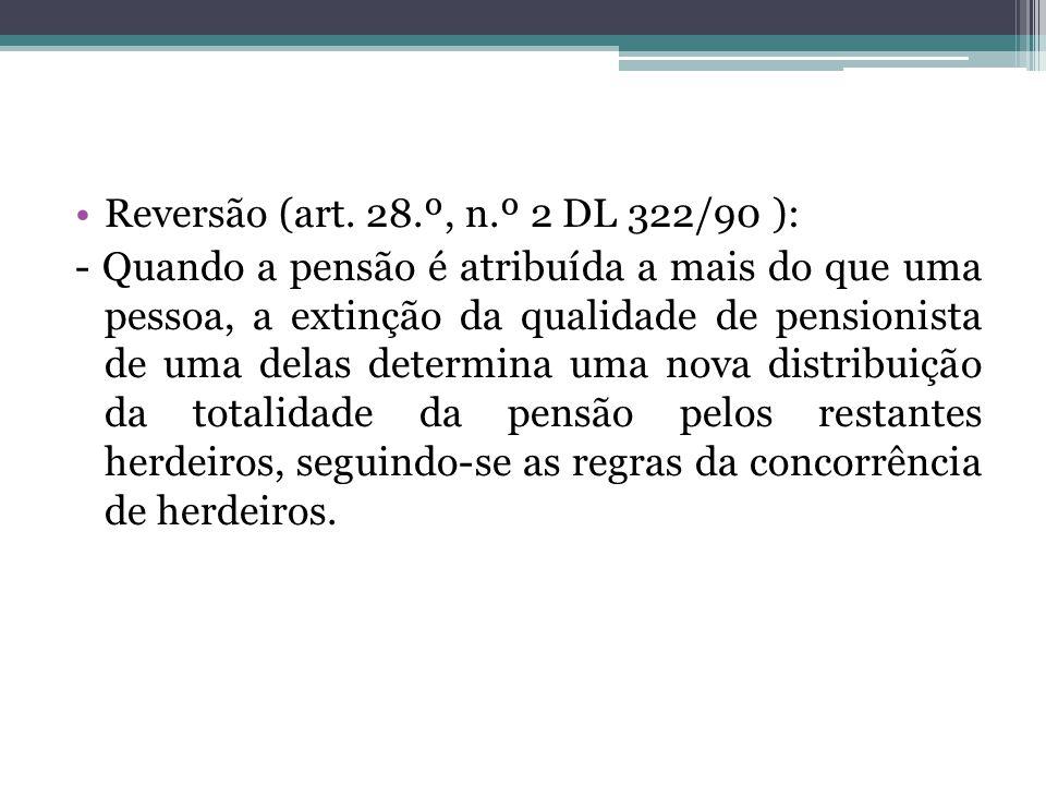 Reversão (art. 28.º, n.º 2 DL 322/90 ):
