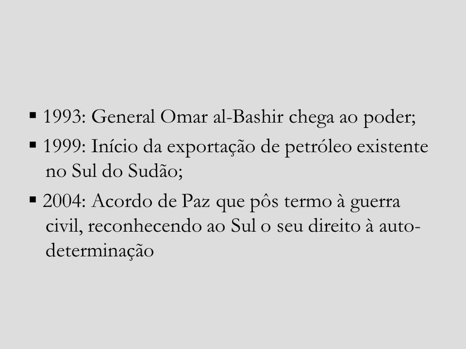  1993: General Omar al-Bashir chega ao poder;