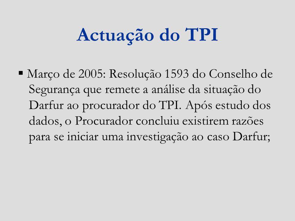 Actuação do TPI