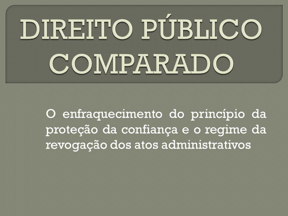 DIREITO PÚBLICO COMPARADO