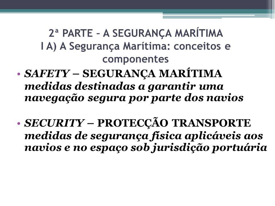 2ª PARTE – A SEGURANÇA MARÍTIMA I A) A Segurança Marítima: conceitos e componentes