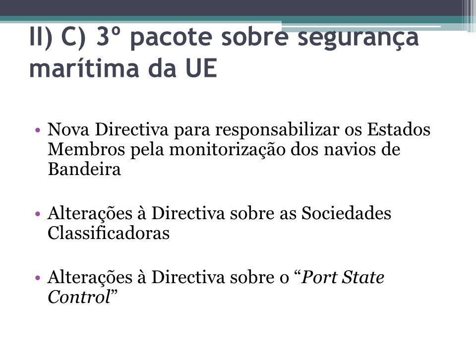 II) C) 3º pacote sobre segurança marítima da UE