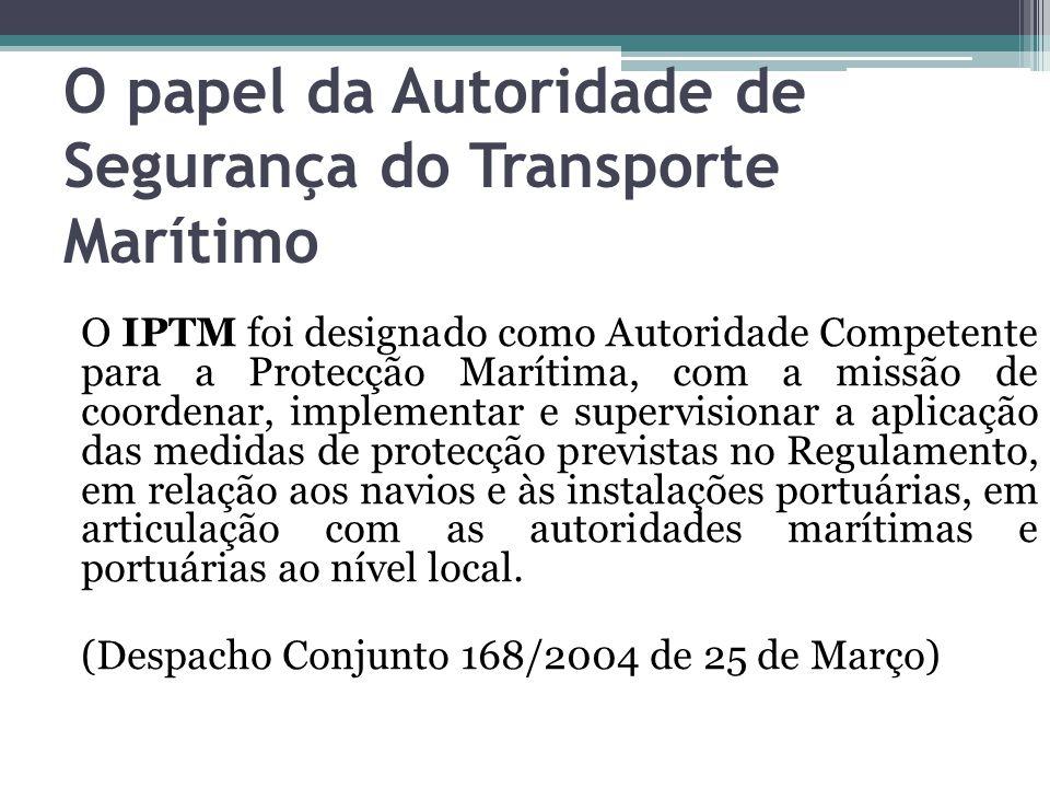 O papel da Autoridade de Segurança do Transporte Marítimo