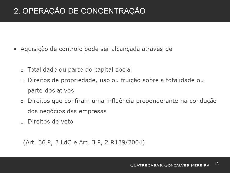 2. Operação de concentração