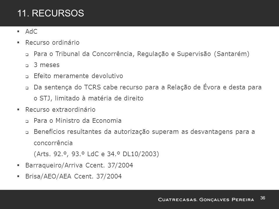 11. Recursos AdC Recurso ordinário