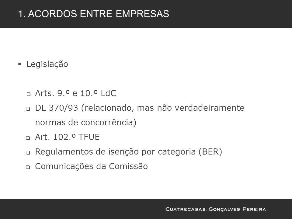 1. Acordos entre empresas