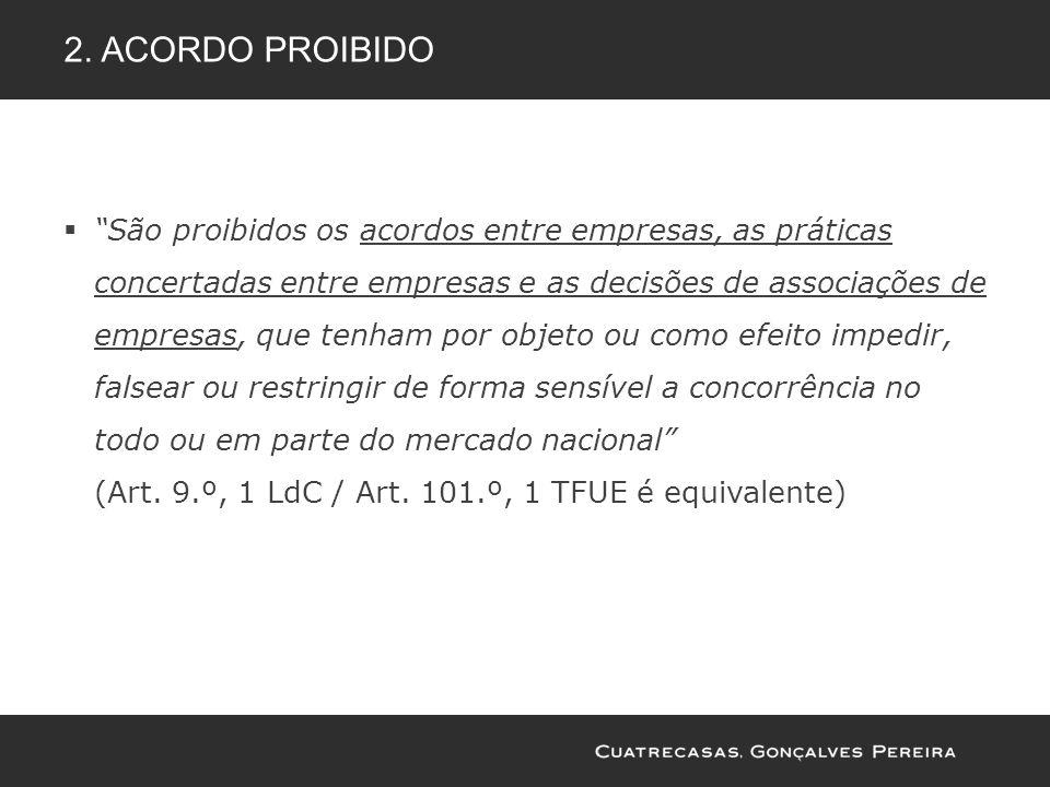 2. Acordo proibido
